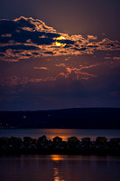 Supermoonset over Lake Dardanelle